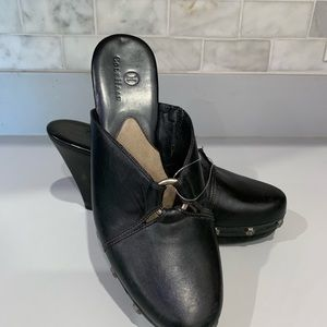 Cole Haan Backless Leather Heels